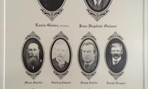 Les fondateurs de la fromagerie St-Albert
